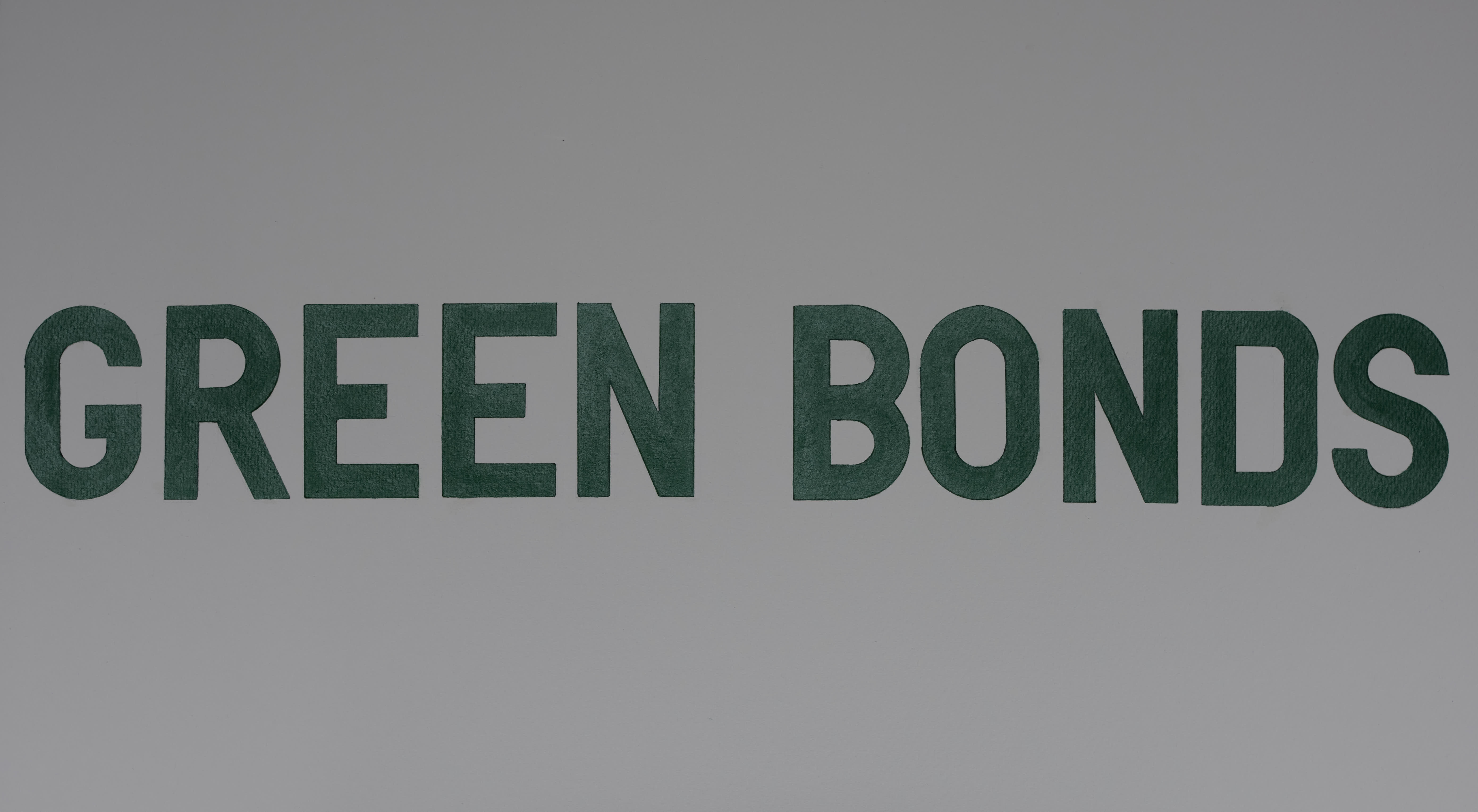 Green Bonds, 2020. Pen and acrylic on Paper, 44 x 76 cm