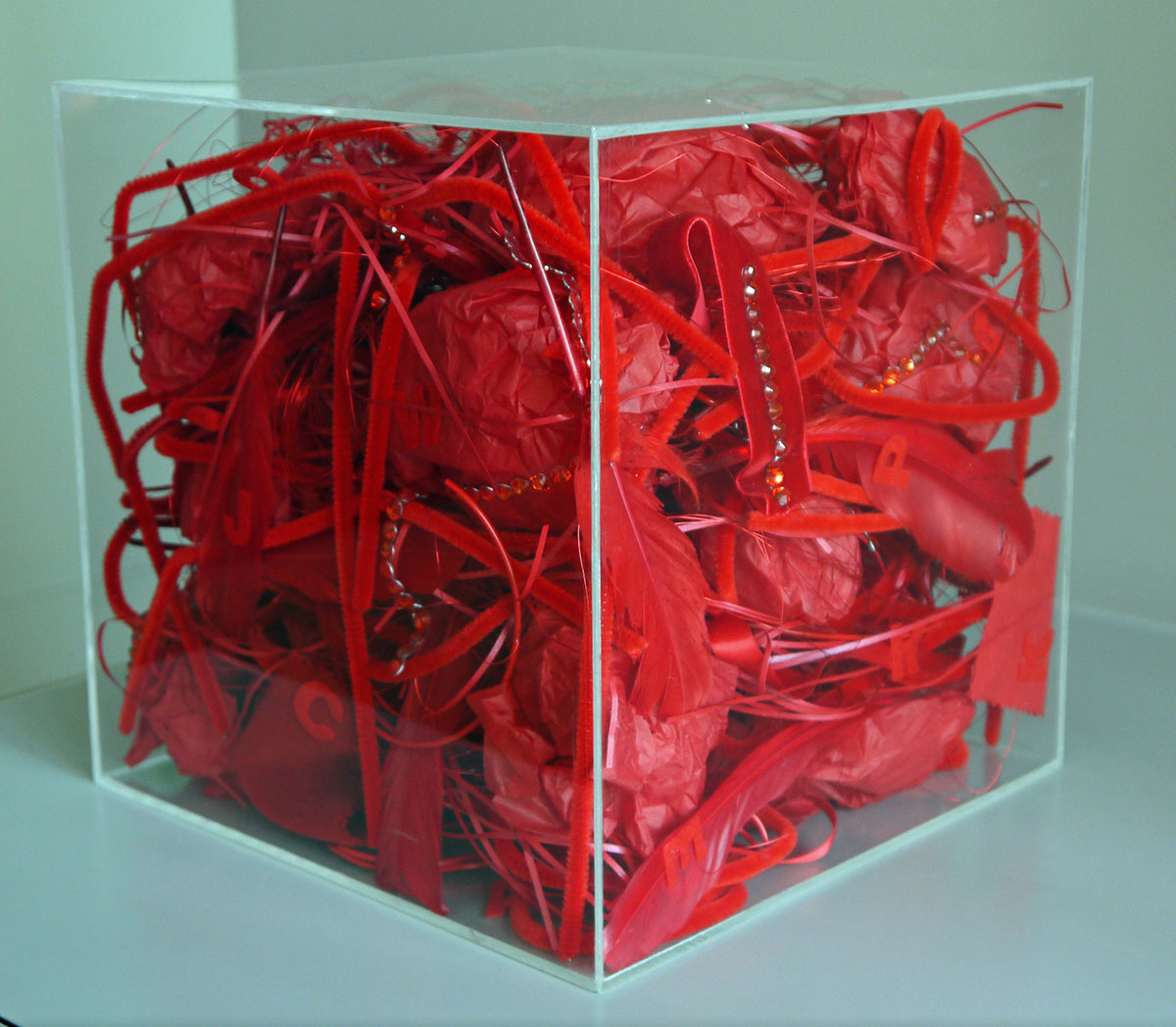 Box of My Red Things, 2012 Mixed Media 25 x 25 x 25 cm