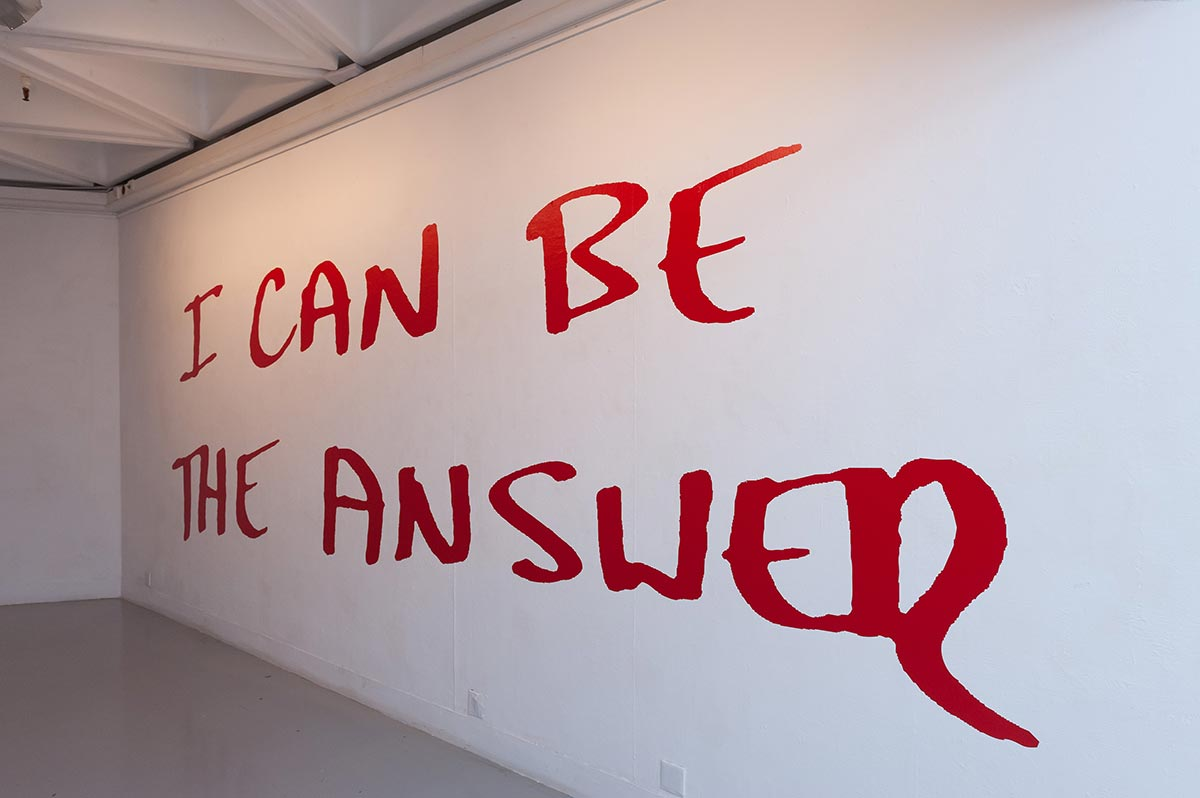 Graffiti: I CAN BE THE ANSWER, 2014 Installation, Pao Galleries (Photo: Bronney Hui)