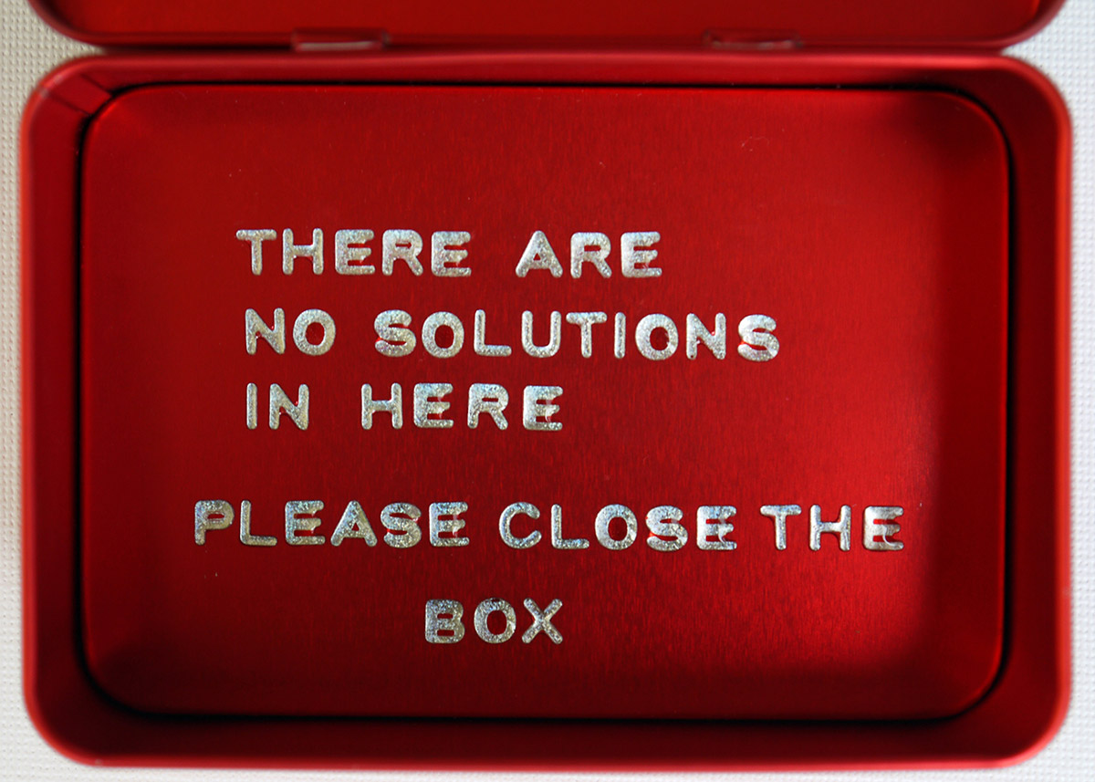 The Red Box, 2012 Mixed Media 4.5 x 10.5 x 7 cm (open view)