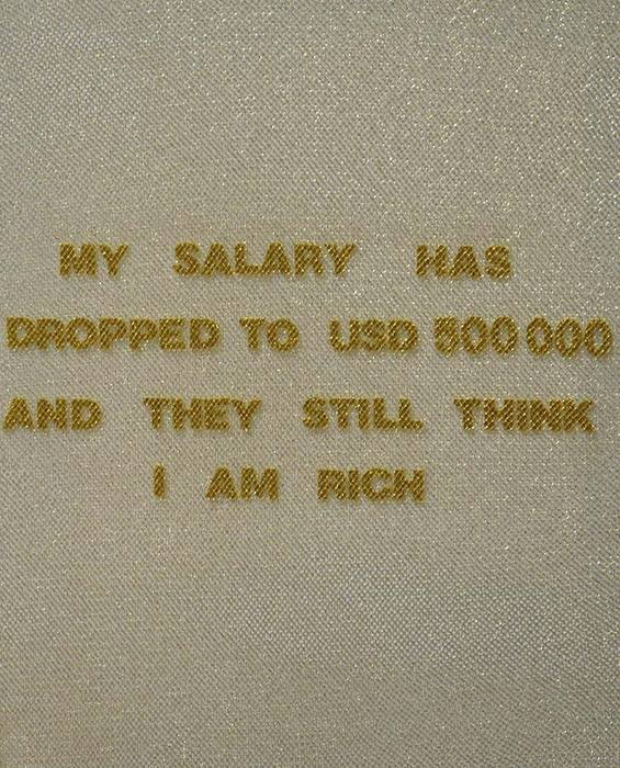 They Still Think I'm Rich, 2012 Mixed Media on Canvas 50 x 40 cm