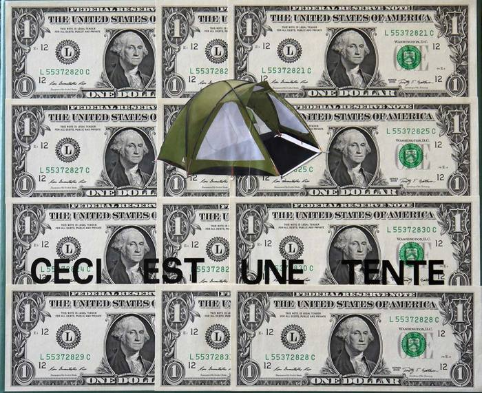 Let's Occupy Wall Street, 2012 Mixed Media on Canvas 25 x 30 cm