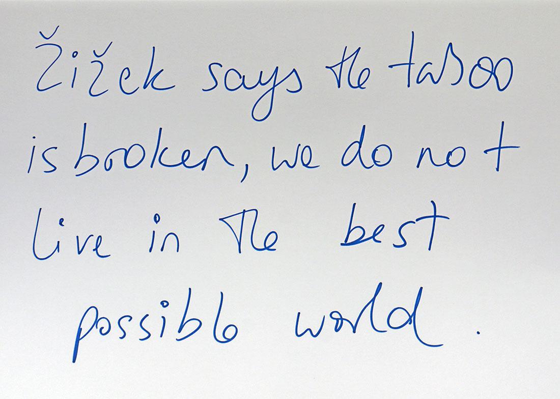 Žižek says….I, 2012 Pen on Paper 29.7 x 42 cm
